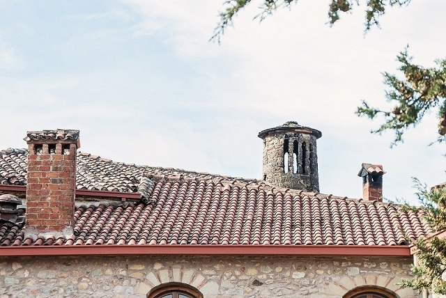 Chimney On The Roof Of The Old Church